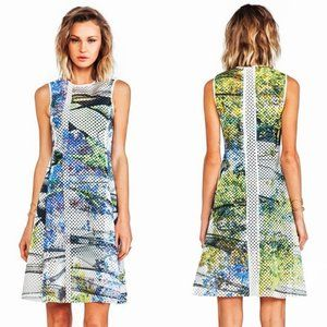 CLOVER CANYON Laser Cut Sleeveless Fit Flare dress